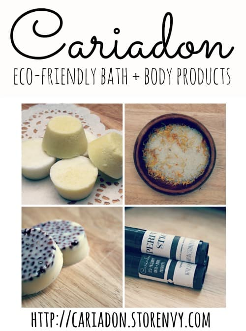 Eco-friendly bath and body products from Cariadon