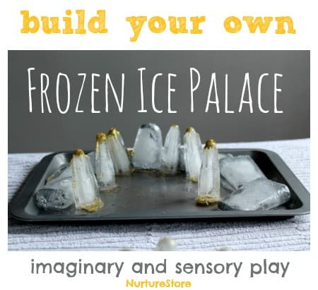 Frozen activities : how to make your own ice palace. Great for sensory play and imaginary play.