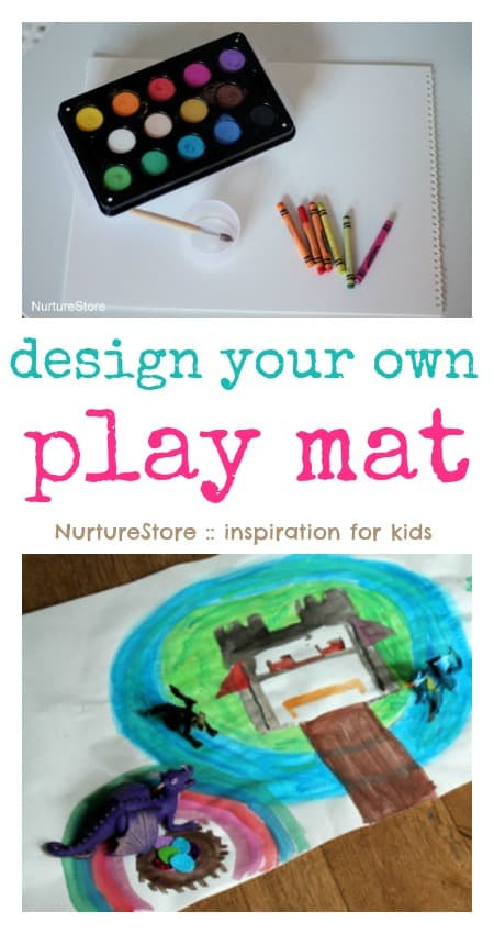 How to make your own play mat, for lots of imaginative play and language development - and fun!