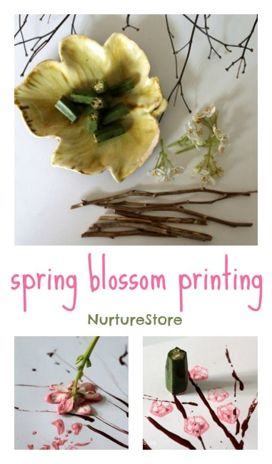 Spring blossom printing : a lovely spring craft for kids