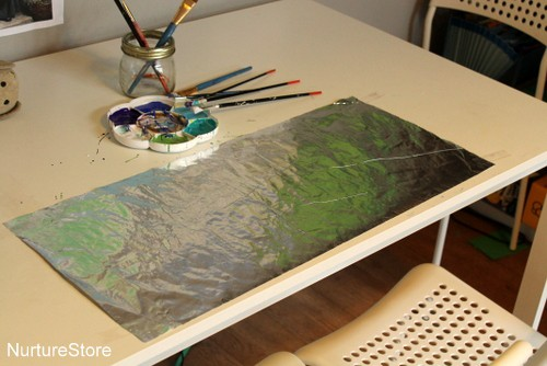 painting on tin foil