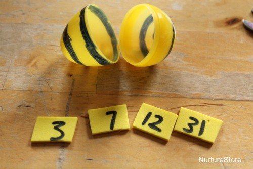 bumble bee math game for kids