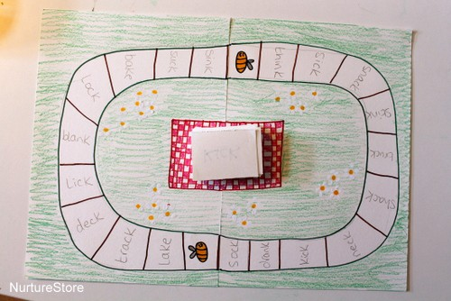 spelling game for kids file folder