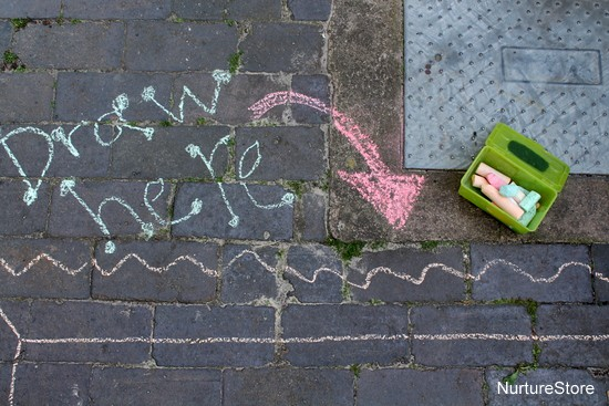 chalk writing outdoors