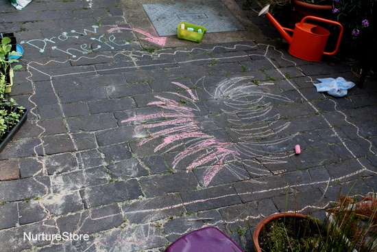 kids outdoor art ideas