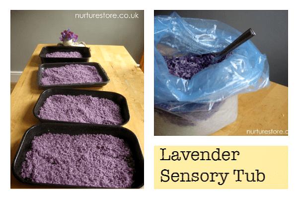 lavender sensory tub