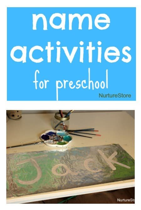 name activities for preschool - great ideas for hands-on learning
