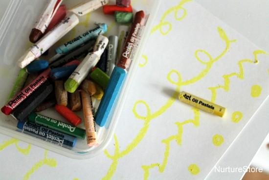 oil pastel craft for kids