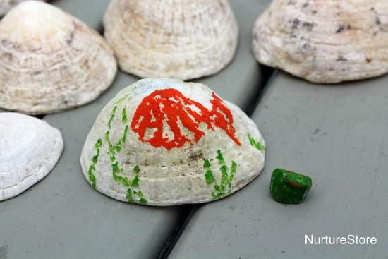 under the sea art kids shells