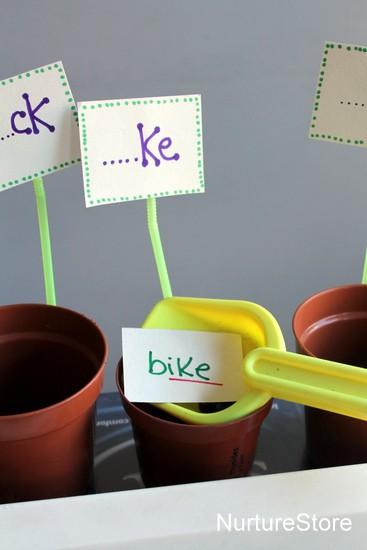 garden theme word sort game