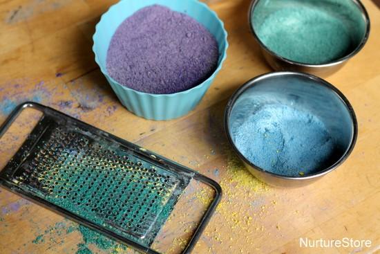 homemade coloured sand