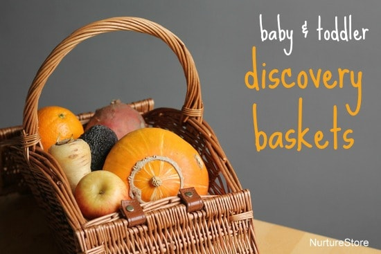 baby toddler discovery baskets fruit vegetables