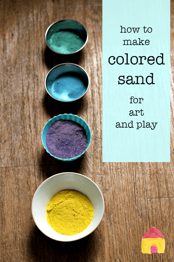 How to make colored sand for art and sensory play