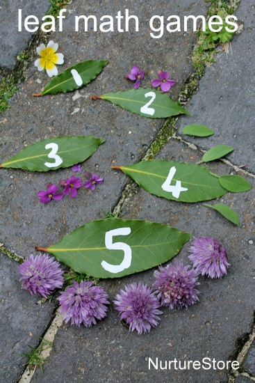 Leaf math games for preschool