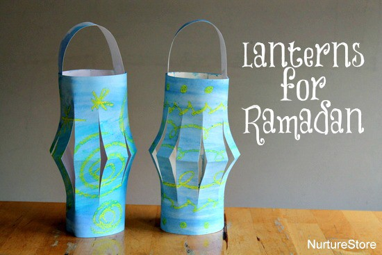 Easy to make, pretty paper lanterns - great Ramadan crafts for kids