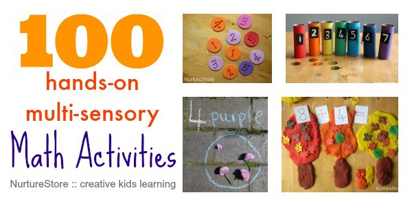 100 hands-on, creative math activities for kids. For ages 0 - 10. organised into topics and seasonal themes.