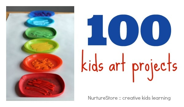 100 kids art projects, organised by material, technique, topic and season