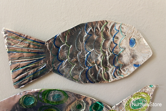 Foil fish craft ocean theme for preschool nurturestore for Fish crafts for preschoolers