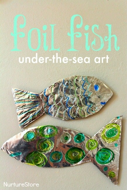 Foil Fish Craft Ocean Theme For Preschool Nurturestore