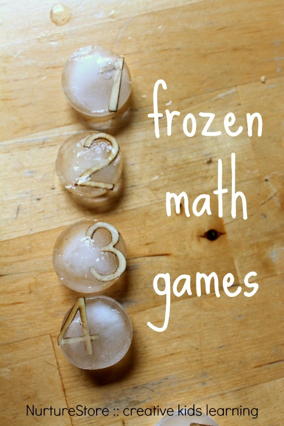 Frozen math games for multi-sensory learning