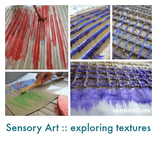 sensory art exploring textures