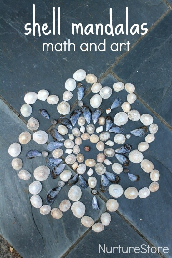 shell mandalas for kids :: math and art