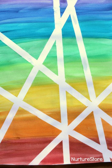watercolour rainbow art