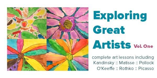 Complete art lesson plans exploring great artists