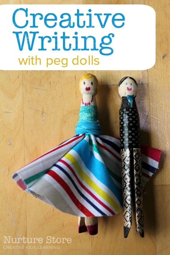 Creative writing for kids, using peg dolls and puppets