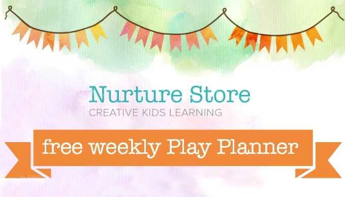 A free weekly play planner delivered straight to your email in box each week, with seven play-based learning ideas for the week ahead.
