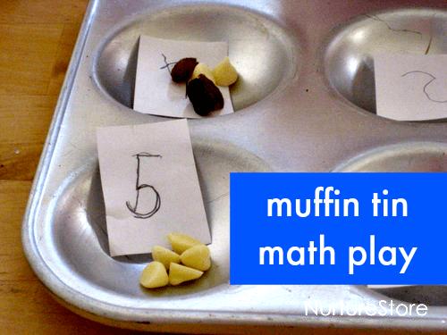muffin tin math play