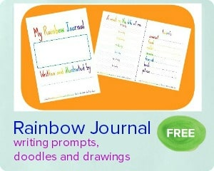 rainbow journal printable