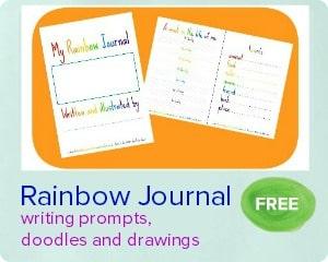 rainbow journal printable