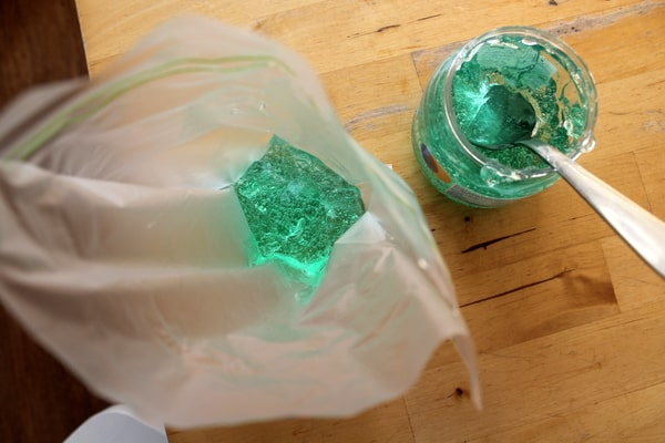diy sensory bag with gel