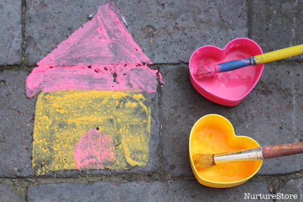 painting with chalk