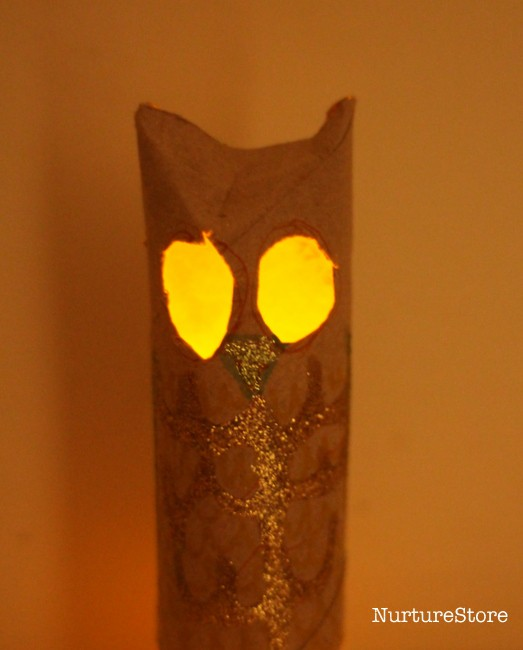 owl lantern craft for Halloween