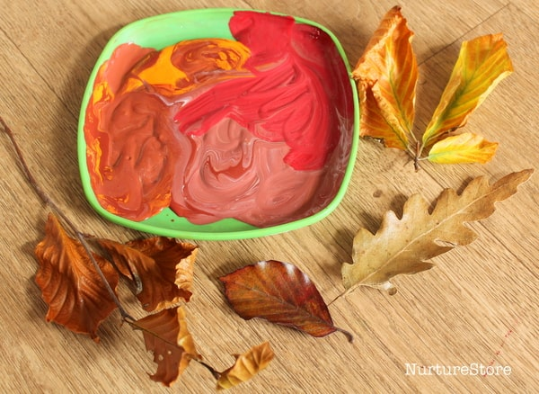 autumn leaf print art activity