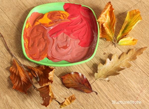 autumn leaf print art activity