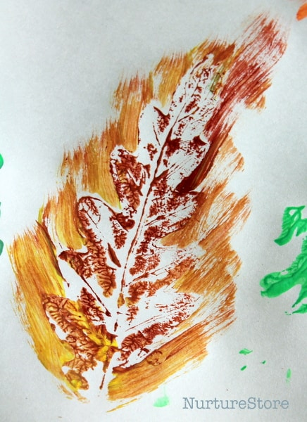 autumn leaf print crafts
