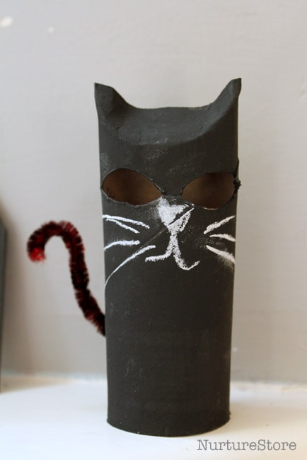toilet roll cat halloween craft