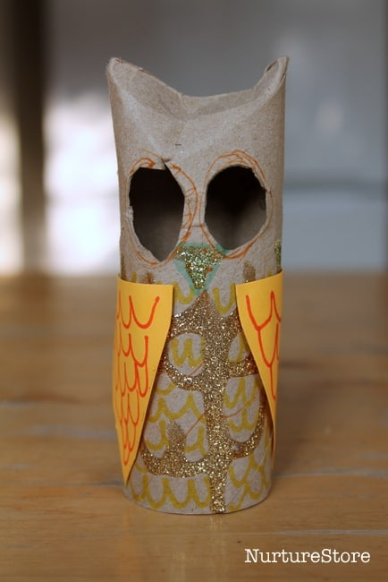 toilet roll owl craft for halloween