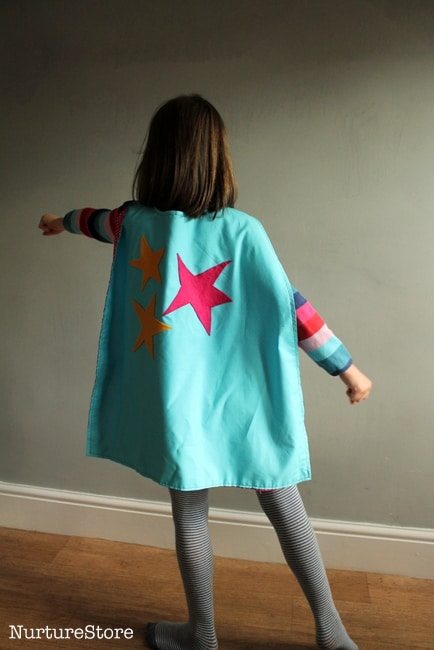 how to make a super hero cape for kids easy