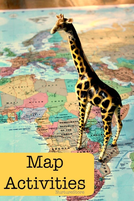 Great ideas for all sorts of map activities for kids.