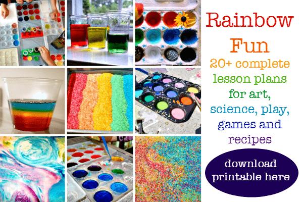rainbow theme centers