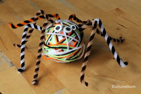 easy spider craft for kids halloween