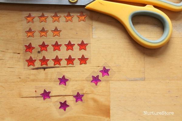 stars for sensory play