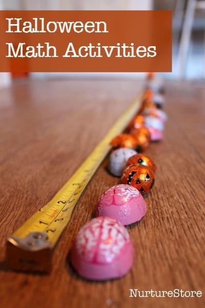 Fun Halloween math activities : great halloween math station using trick-or-treat candy