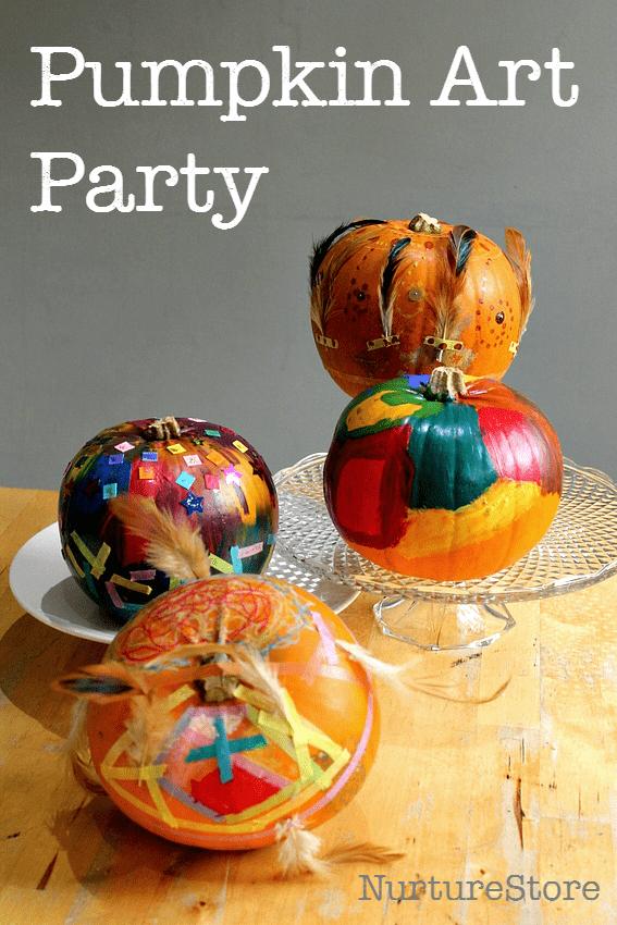 Pumpkin art party for Halloween