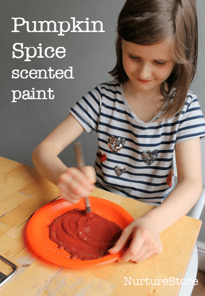 pumpkin spice scented paint :: fall painting craft :: autumn crafts