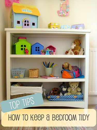 Organization tips :: how to keep a child's bedroom tidy